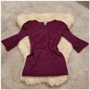 Hayden 100% Cashemere Tunic Babydoll Sweater Dress